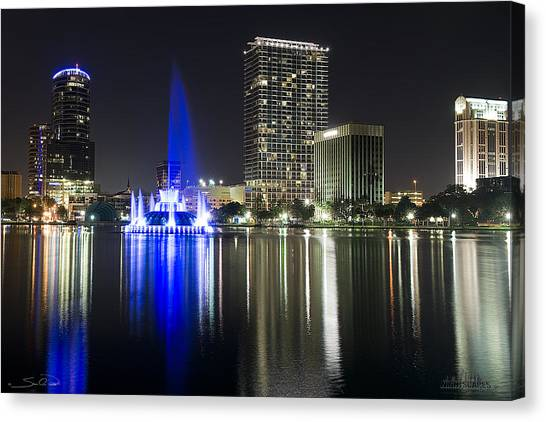 Eola Park Skyline Canvas Print