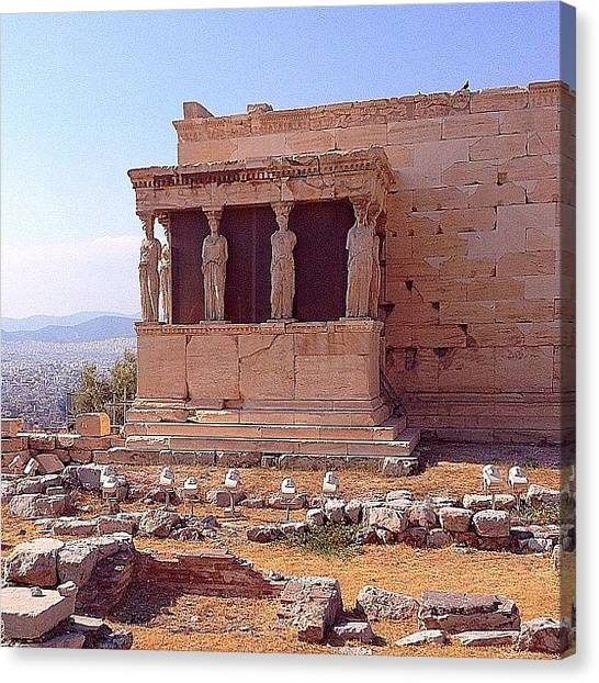 Greek Art Canvas Print - Erechteion - Acropolis, Athens by Dimitre Mihaylov