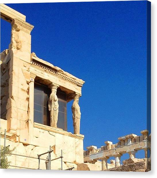 Greek Art Canvas Print - Erechtheion - Acropolis, Athens by Dimitre Mihaylov
