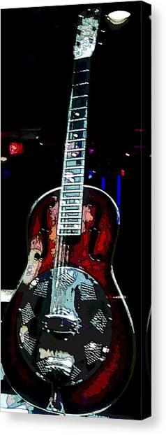 Eric Clampton's Guitar Canvas Print by David Alvarez