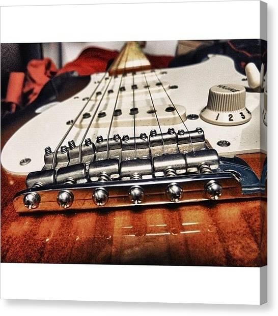 Fender Guitars Canvas Print - Eric Johnson Strat Bridge View by Jason Butts