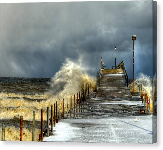 Erie Storm Canvas Print