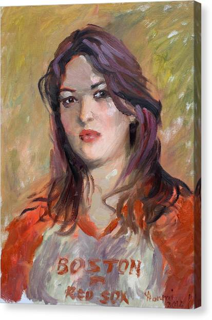 Boston Red Sox Canvas Print - Eriola by Ylli Haruni