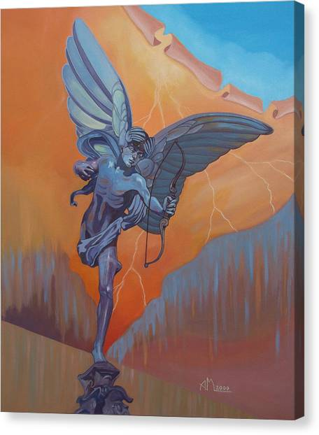 Canvas Print - Eros - London by Antonio Marchese