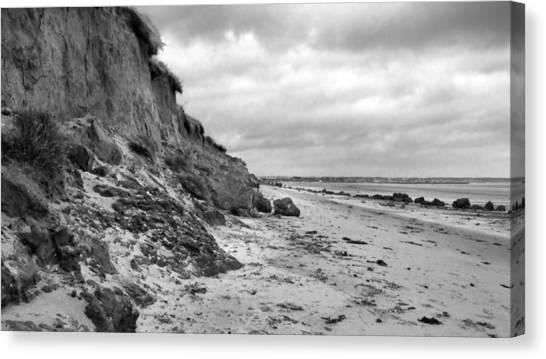 Erosion Bw Canvas Print