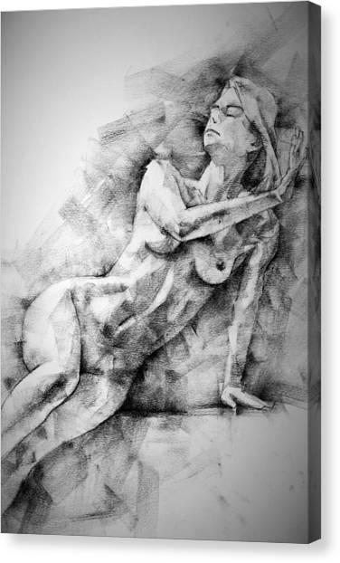 Erotic Sketchbook Page 2 Canvas Print