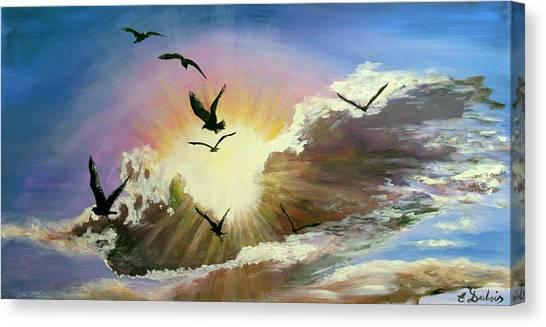 Erupting Sky Canvas Print