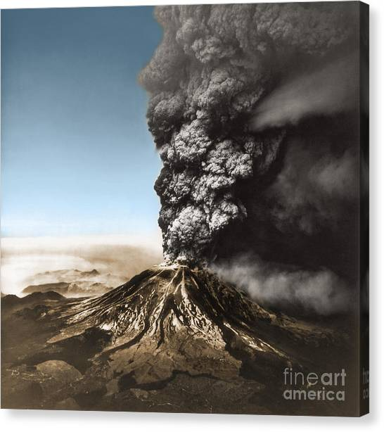 Mount St. Helens Canvas Print - Eruption Of Mount St. Helens by Science Source