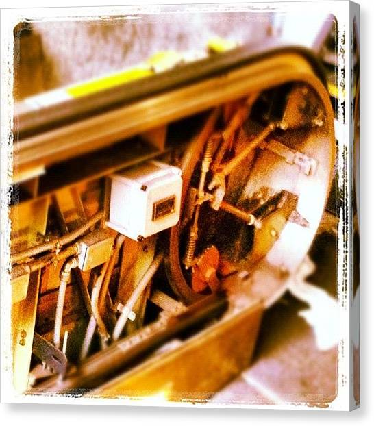 Machinery Canvas Print - Escalator, Uncovered by Rob Murray
