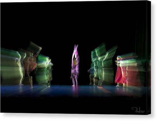 Escaping Dancers Canvas Print