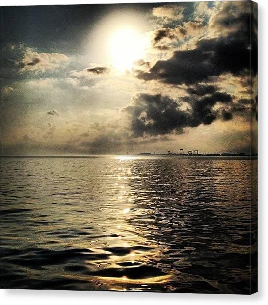 Beach Sunsets Canvas Print - Eskihisar #sea by Gurkan Oztekin