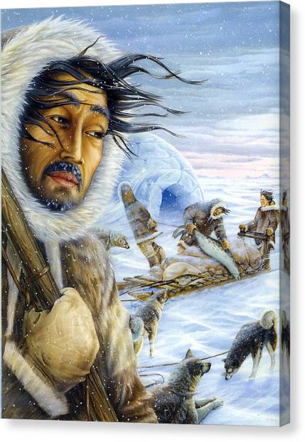 Eskimo Hunt Canvas Print