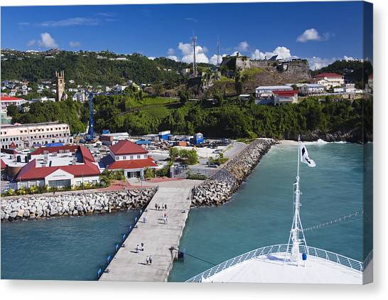 Esplanade Area From Cruise Ship At Wharf Canvas Print by Richard Cummins