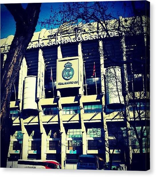 Real Madrid Canvas Print - Estadio Santiago Bernabeu by Tomas Gomez