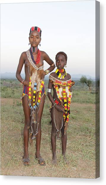 Ethiopia-south Sisters Canvas Print