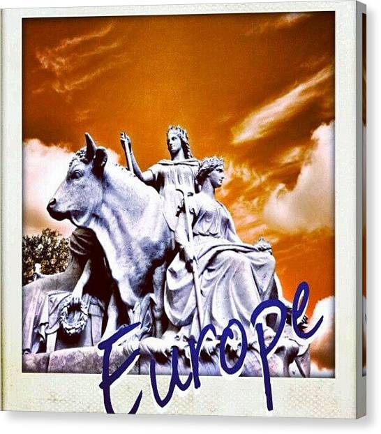 Princess Canvas Print - #europe #king #queen #kingdom #cow by K H   U   R   A   M