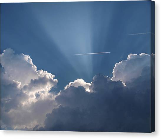 Even Through The Clouds You Will Find A Ray Of Sunshine Canvas Print