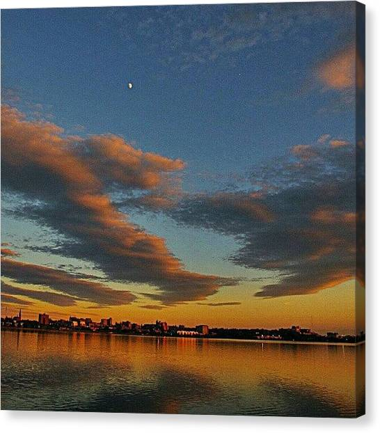 Maine Canvas Print - Evening Backbay 062812- #twilight by Chris T Darling