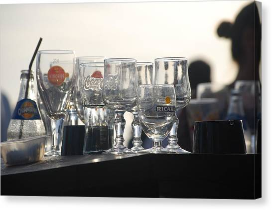 Evening Drinks Canvas Print by Dickon Thompson