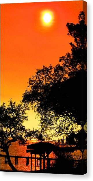 Evening Fire Canvas Print by Nicole I Hamilton