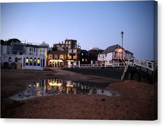 Evening In Broadstairs Canvas Print by Jez C Self