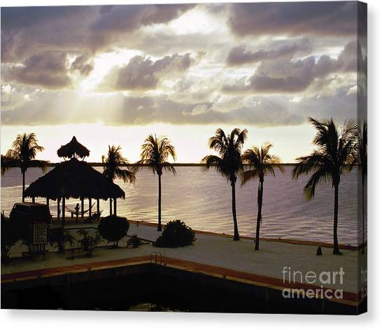 Evening In The Keys - Key Largo Canvas Print