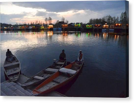 Evening On Dal Lake Canvas Print