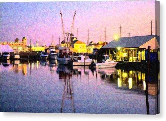 Sunset Horizon Canvas Print - Evening Peace by Betsy Knapp
