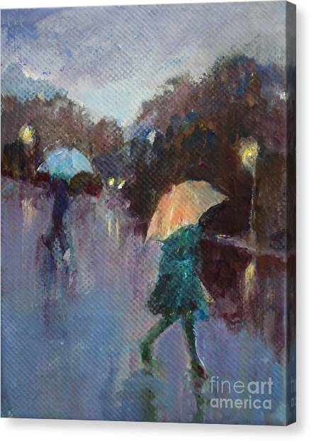 Evening Rain Canvas Print