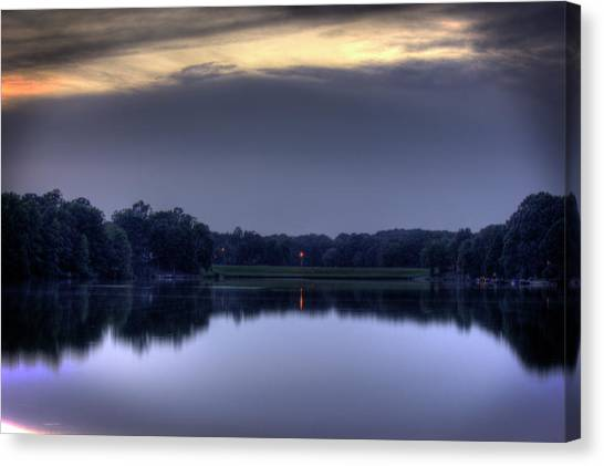 Evening Reflections Canvas Print by Barry Jones