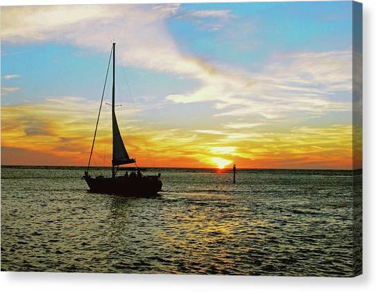 Evening Sailing Canvas Print