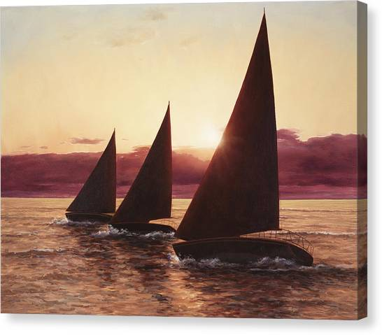 Evening Sails Canvas Print