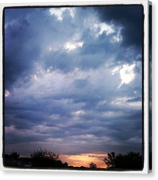 Maine Canvas Print - Evening Sky June 22,12 #sky #clouds by Chris T Darling