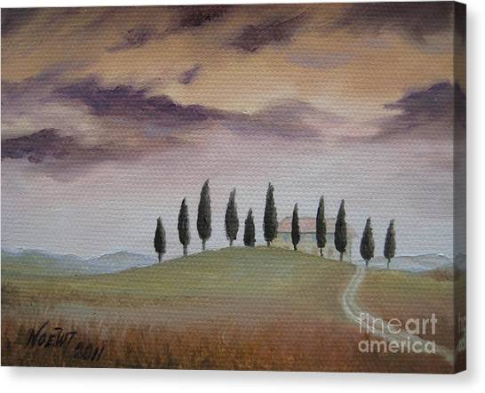 Evening Tuscany Canvas Print