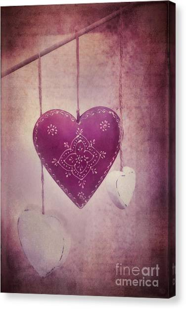 Heart Shape Canvas Print - Ever And Anon by Priska Wettstein
