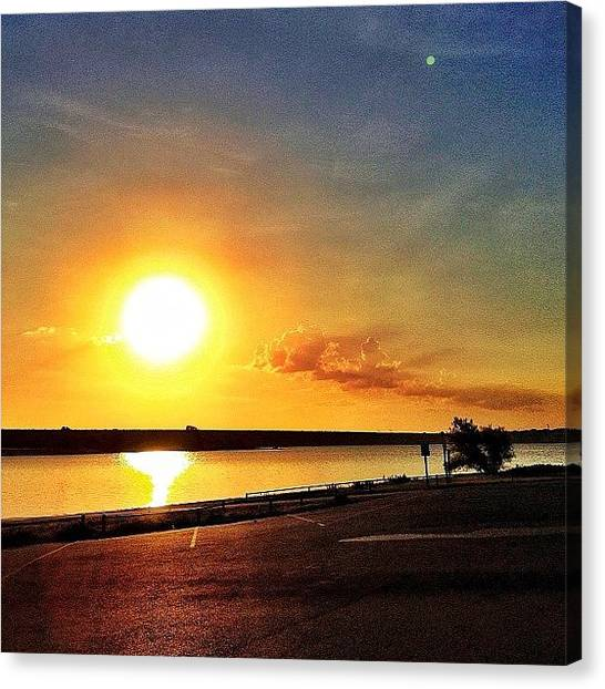 Lake Sunrises Canvas Print - Every Sunsrise Is A New Beginning, A by Ryan Richbourg