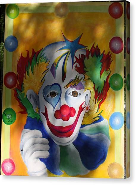 Everybody Loves A Clown Canvas Print