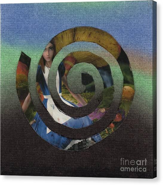 Evil Alice Spiral Canvas Print