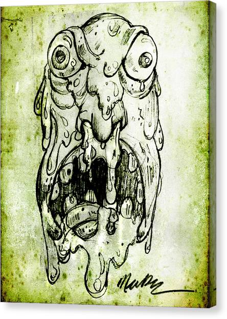 Evil Snot Monster Canvas Print