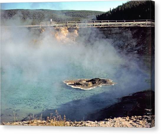 Excelsior Geyser Crater Canvas Print by Rod Jones