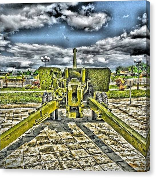 Fighting Canvas Print - Exhibition Of Old Soviet Arms. #gun by Igor Che 💎