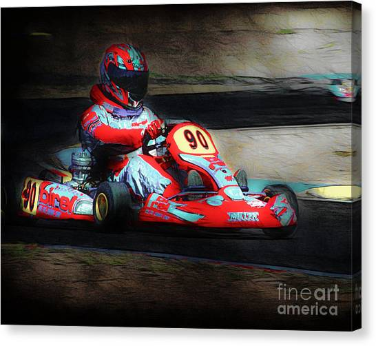 Van Goughs Ear Canvas Print - Exit Turn 5 by Arne Hansen