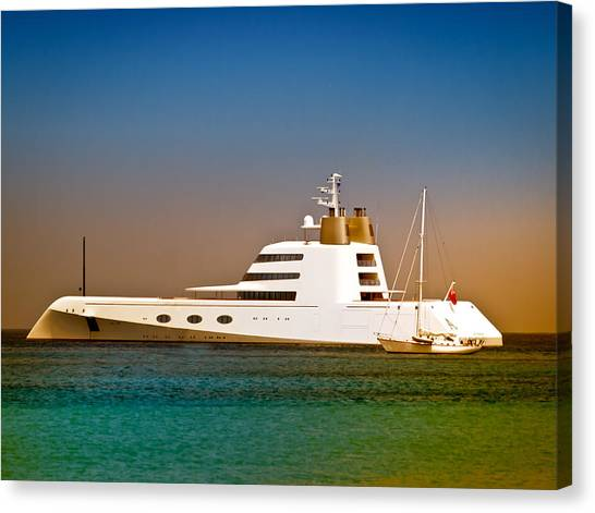 Exotic Yacht Canvas Print