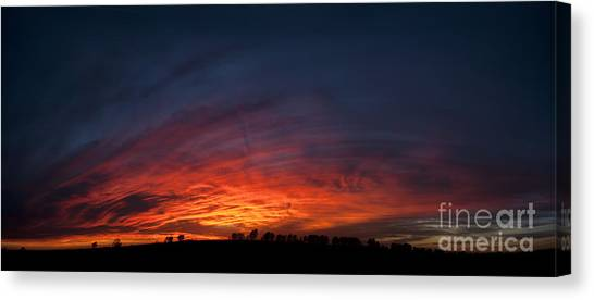 Expansive Sunset Canvas Print