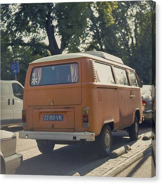 Vw Bus Canvas Print - Expired Kodak Portra And #vw #bus by Andy Kleinmoedig