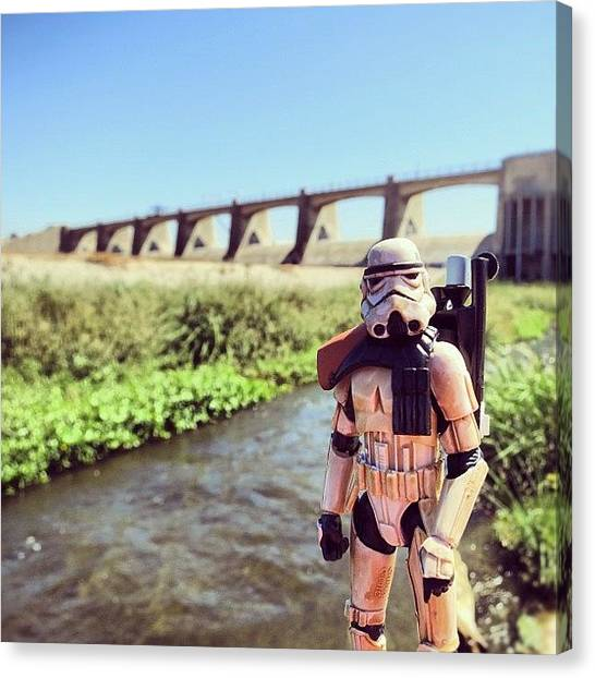 Stormtrooper Canvas Print - Explored The Sepulveda Dam With A by Timmy Yang