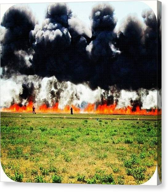 Army Canvas Print - #explosion #army #feuerfrei #hellyeah by Ange Exile DuParadis