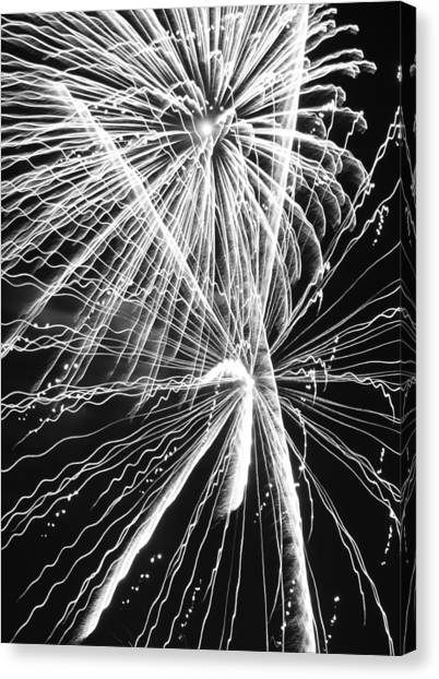 Libertarian Canvas Print - Explosions For Sovereignty And Liberty by Carolina Liechtenstein