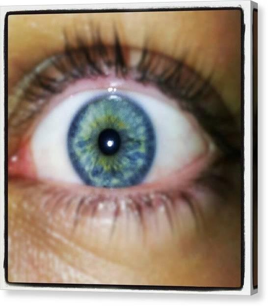 Humans Canvas Print - #eye #blue #green #human #yellow by Jake Delmonte