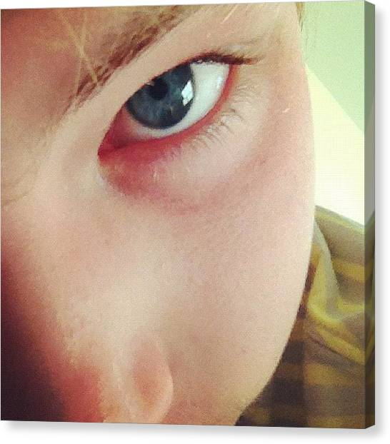Hunting Canvas Print - #eye #bored #helpme #tired by Hunter Graves